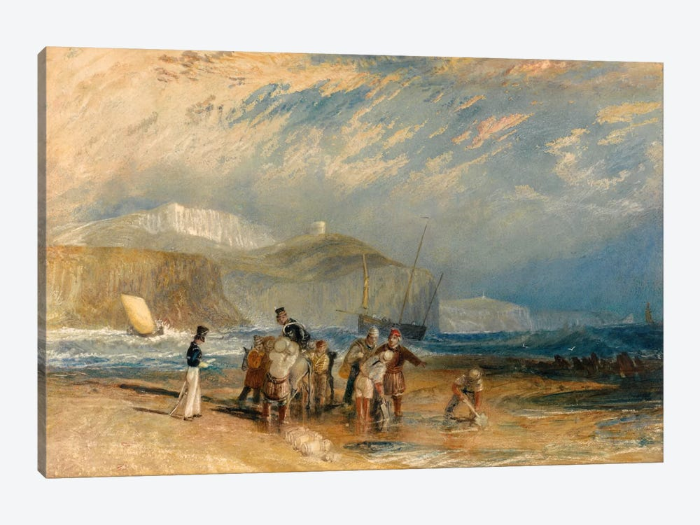 Folkestone Harbour and Coast to Dover by J.M.W. Turner 1-piece Canvas Art Print