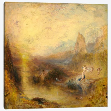 Glaucus and Scylla Canvas Print #15118} by J.M.W. Turner Canvas Wall Art