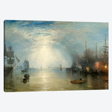 Keelman Heaving in Coals by Moonlight Canvas Print #15119} by J.M.W Turner Canvas Wall Art