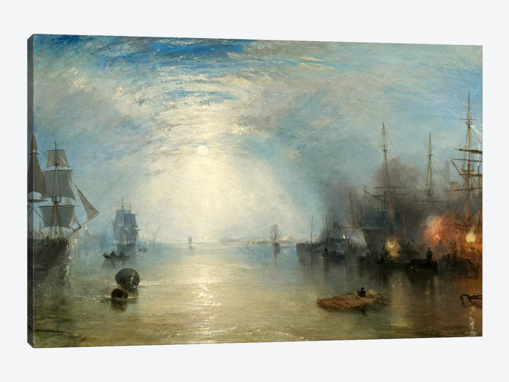 Keelman Heaving in Coals by Moonlight 1-piece Canvas Art Print