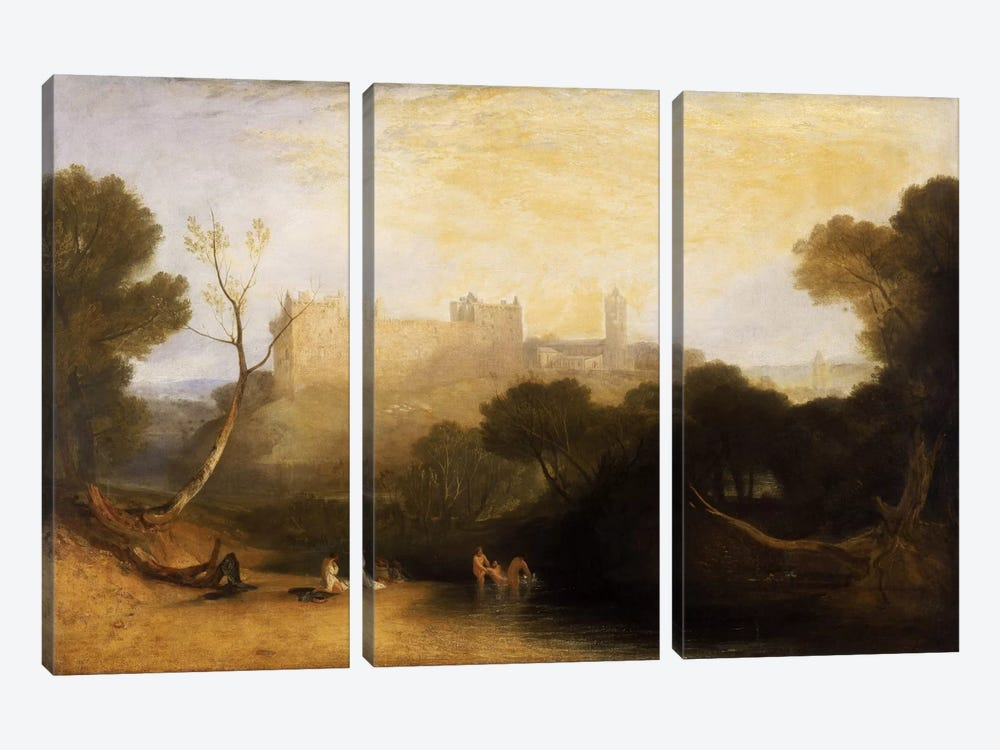 Lillithgow Palace by J.M.W Turner 3-piece Art Print