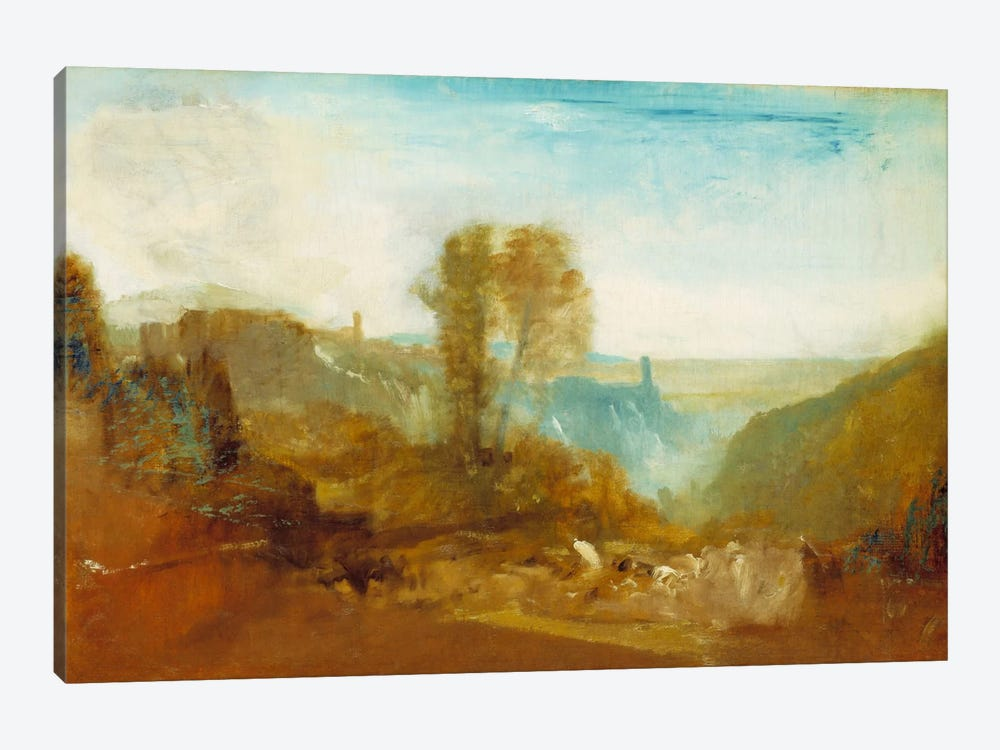 Tivoli, The Cascatelle by J.M.W. Turner 1-piece Canvas Print