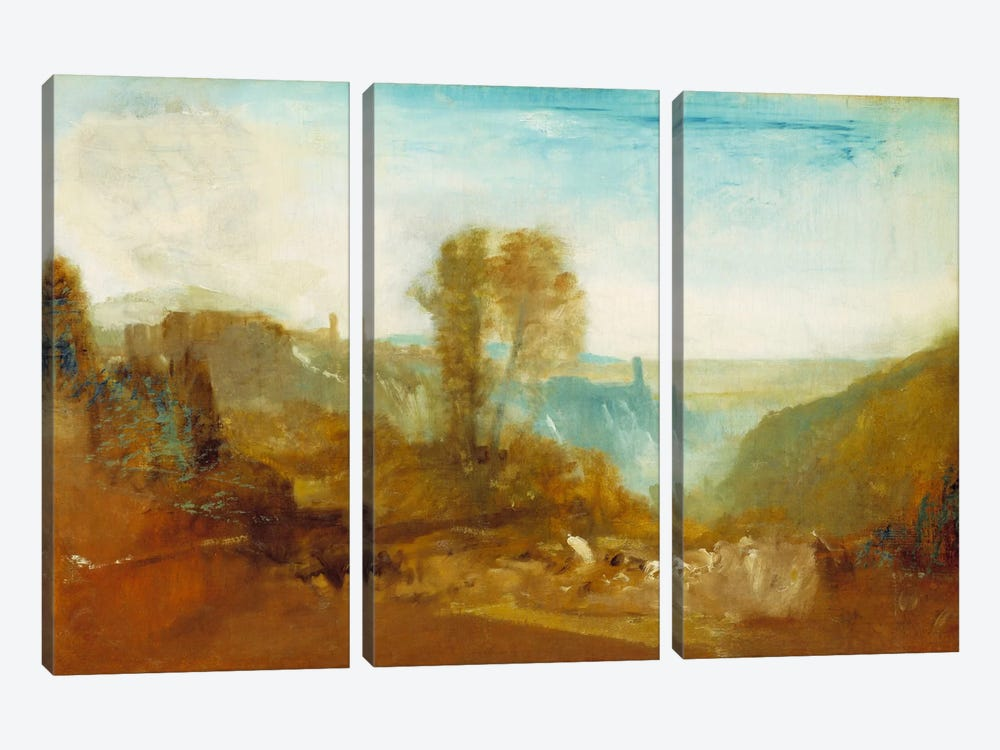 Tivoli, The Cascatelle by J.M.W Turner 3-piece Canvas Art Print