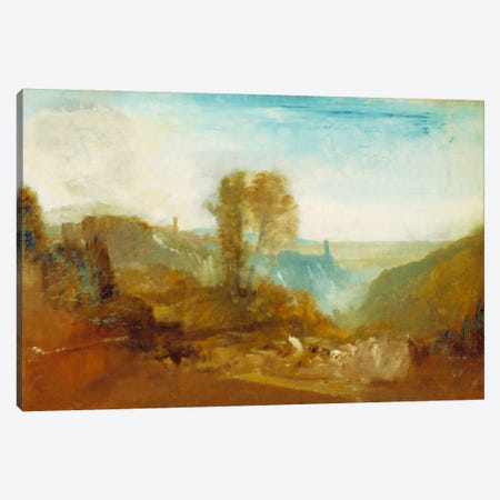 Tivoli, The Cascatelle Canvas Print #15124} by J.M.W. Turner Canvas Wall Art