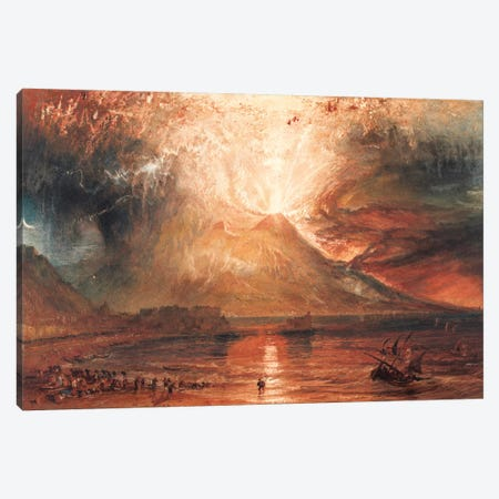 Vesuvius in Eruption Canvas Print #15125} by J.M.W. Turner Canvas Artwork