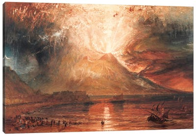 Vesuvius in Eruption Canvas Art Print