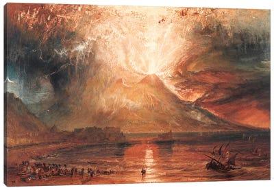 Vesuvius in Eruption Canvas Print #15125