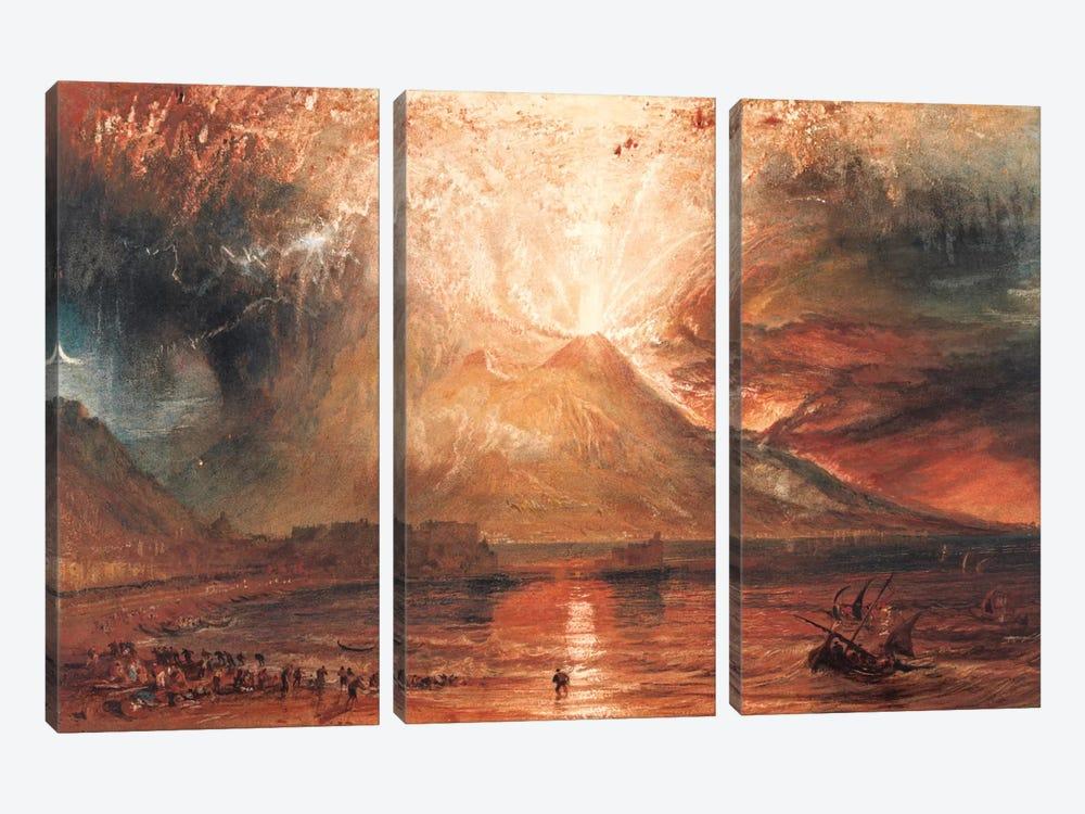 Vesuvius in Eruption by J.M.W. Turner 3-piece Canvas Wall Art