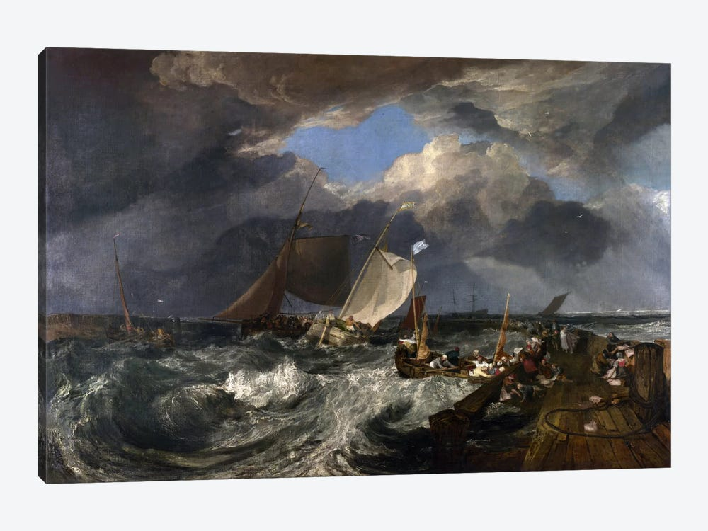 Calais Pier by J.M.W. Turner 1-piece Canvas Print