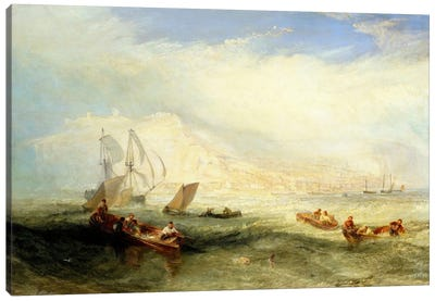 Line Fishing, Off Hastings Canvas Art Print