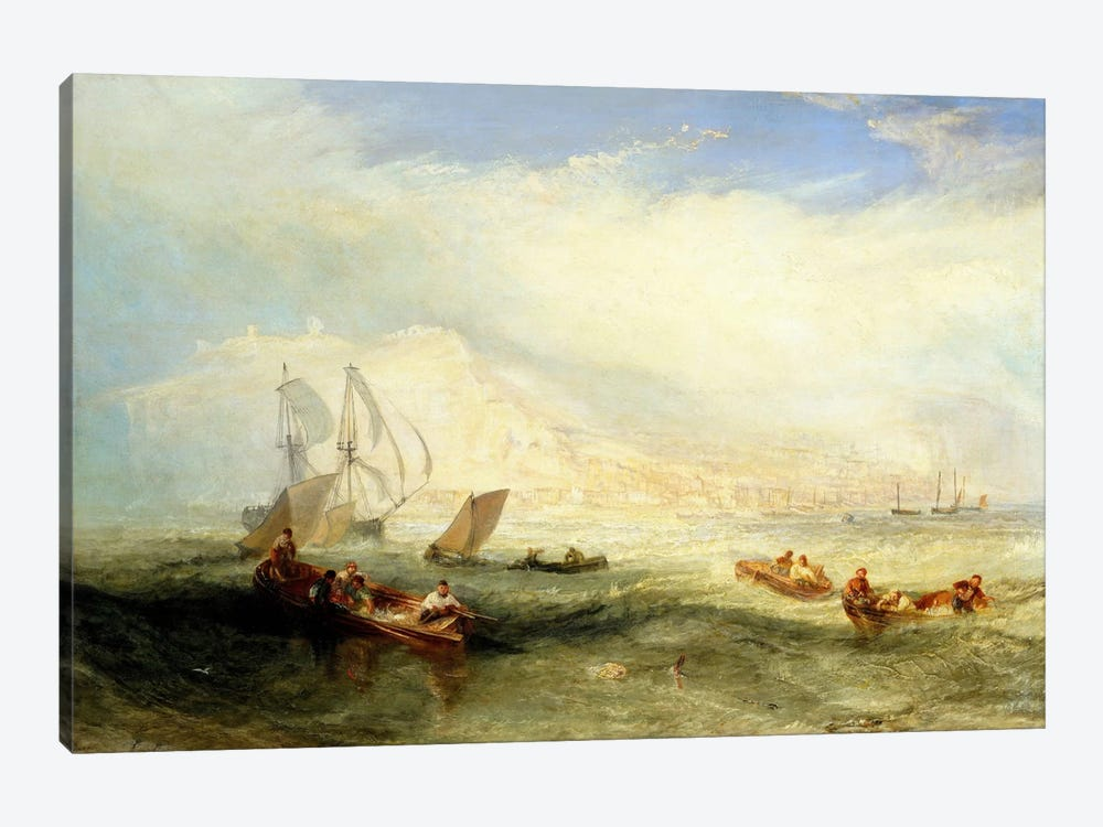 Line Fishing, Off Hastings 1-piece Canvas Wall Art