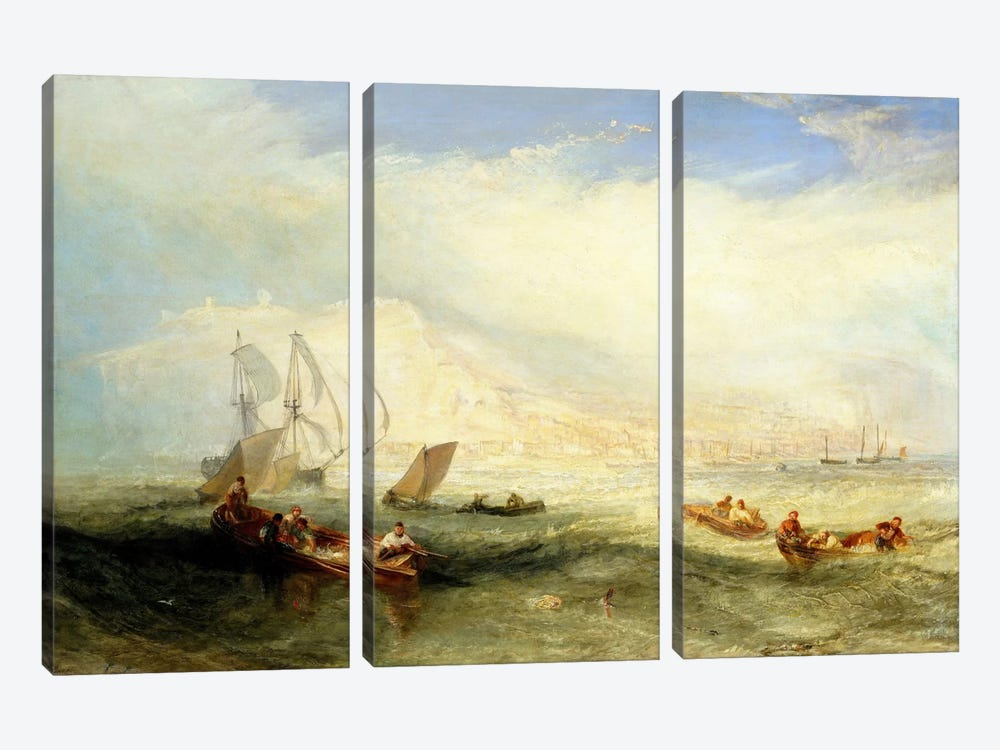 Line Fishing, Off Hastings 3-piece Canvas Artwork