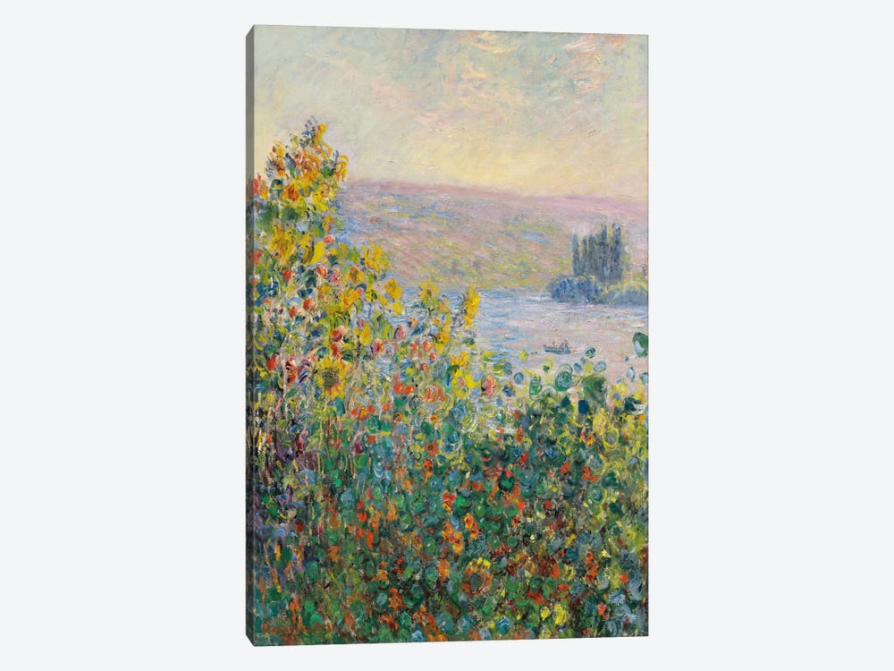 Flower Beds at Vetheuil by Claude Monet 1-piece Art Print