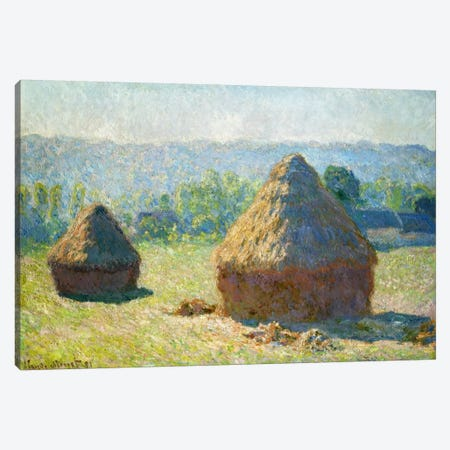 Haystack - End of the Summer Canvas Print #15137} by Claude Monet Canvas Art Print