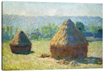 Haystack - End of the Summer Canvas Art Print