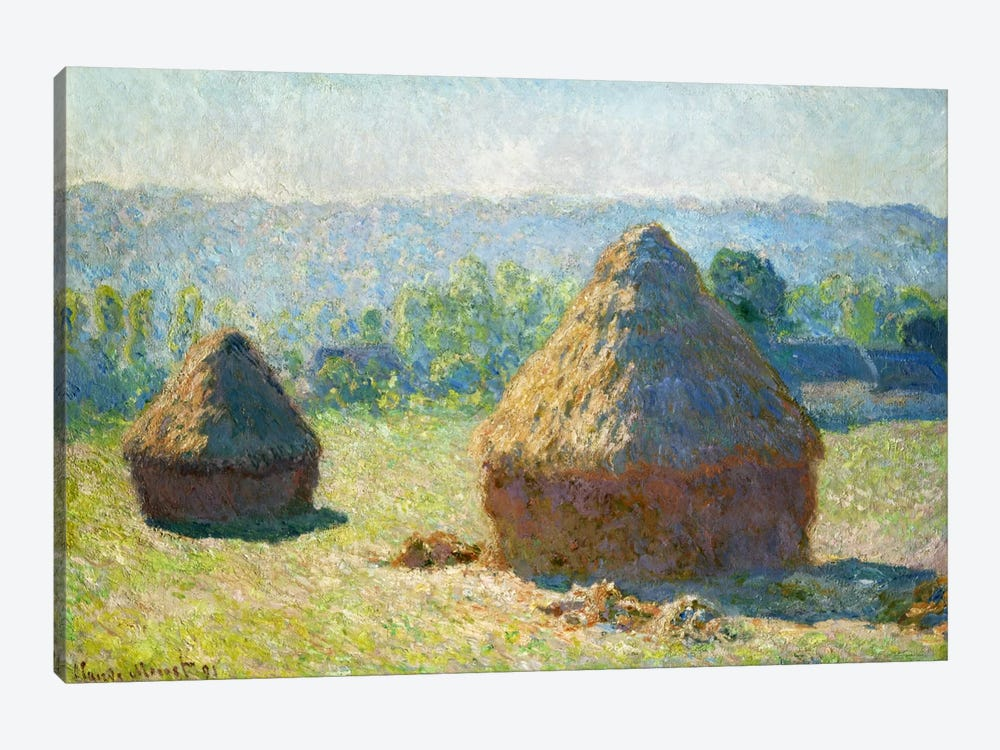 Haystack - End of the Summer by Claude Monet 1-piece Canvas Art Print