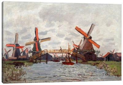 Mills in the Westzijderveld near Zaandam Canvas Print #15138