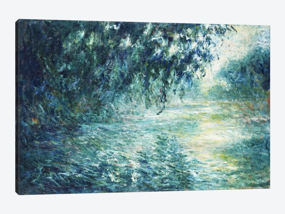 Morning on the Seine, near Giverny by Claude Monet 1-piece Art Print