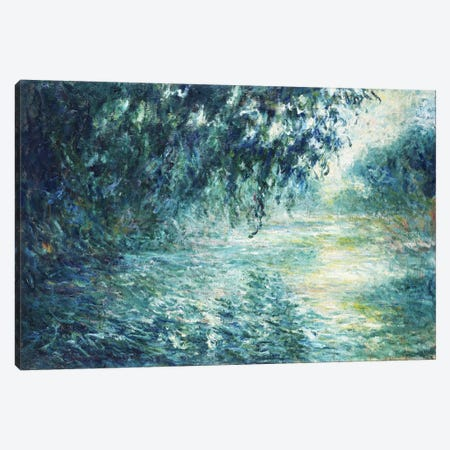 Morning on the Seine, near Giverny Canvas Print #15139} by Claude Monet Canvas Artwork