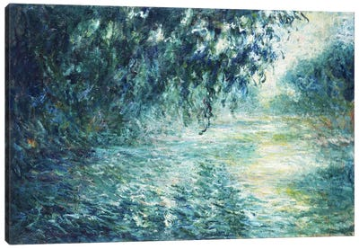 Morning on the Seine, near Giverny Canvas Art Print