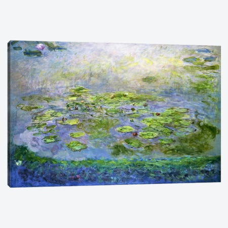 Nympheas (Waterlilies), 1917 Canvas Print #15141} by Claude Monet Canvas Print