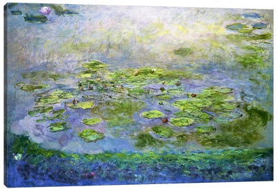 Nympheas (Waterlilies), 1917 Canvas Art Print