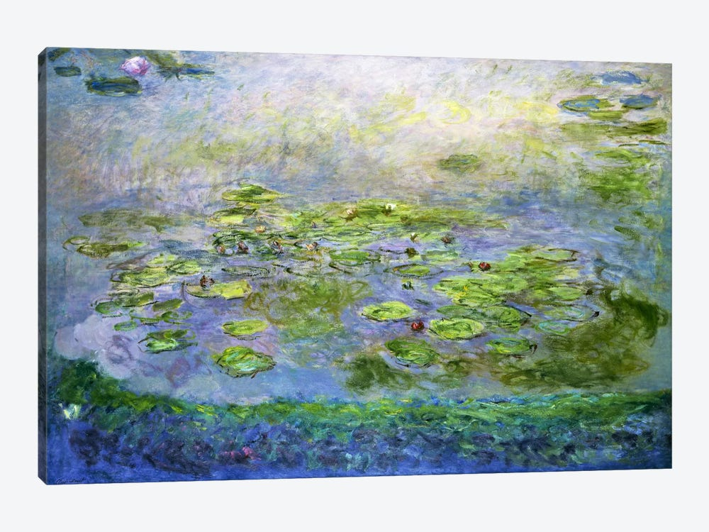 Nympheas (Waterlilies), 1917 by Claude Monet 1-piece Canvas Artwork