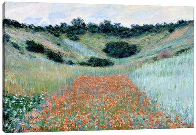 Poppy Field in a Hollow Near Giverny Canvas Print #15143