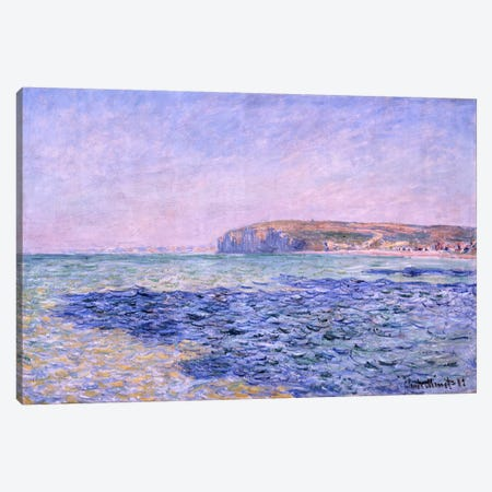 Shadows on the Sea - The Cliffs at Pourville Canvas Print #15144} by Claude Monet Canvas Art