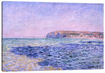 Shadows on the Sea - The Cliffs at Pourville Canvas Art Print