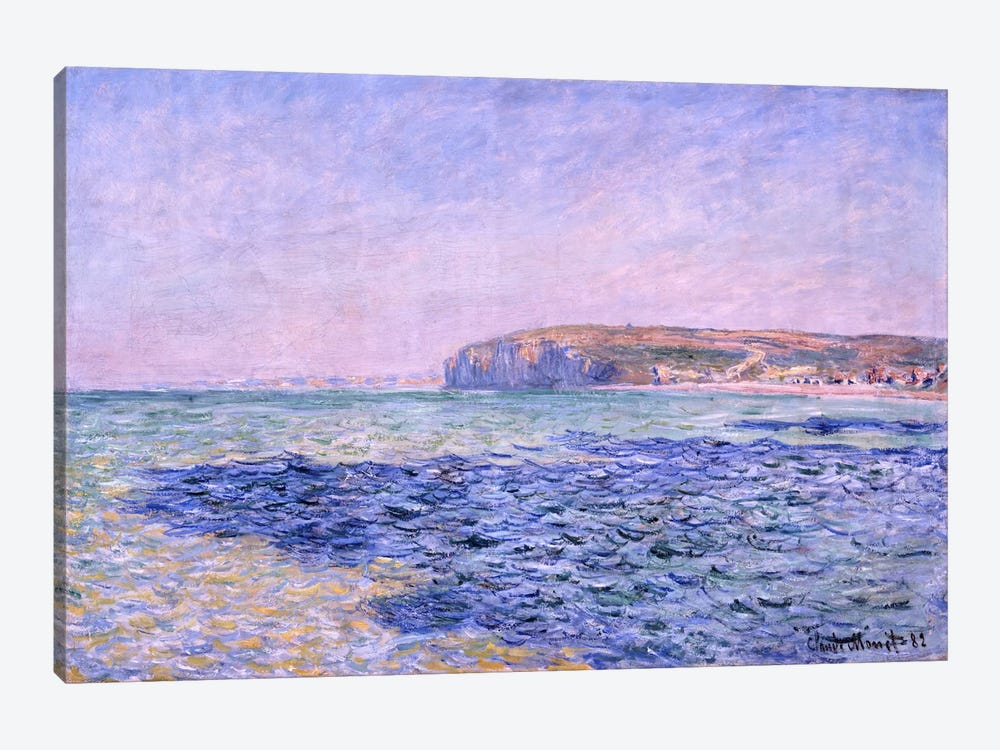 Shadows on the Sea - The Cliffs at Pourville by Claude Monet 1-piece Canvas Print