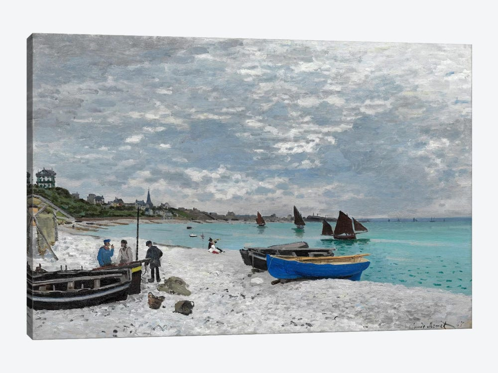 The Beach at Saint-Adresse by Claude Monet 1-piece Canvas Art