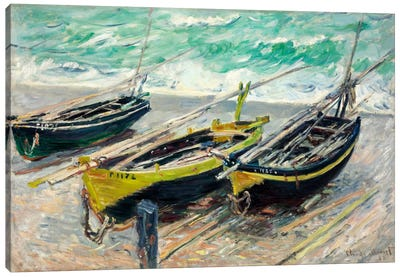 Three Fishing Boats Canvas Art Print