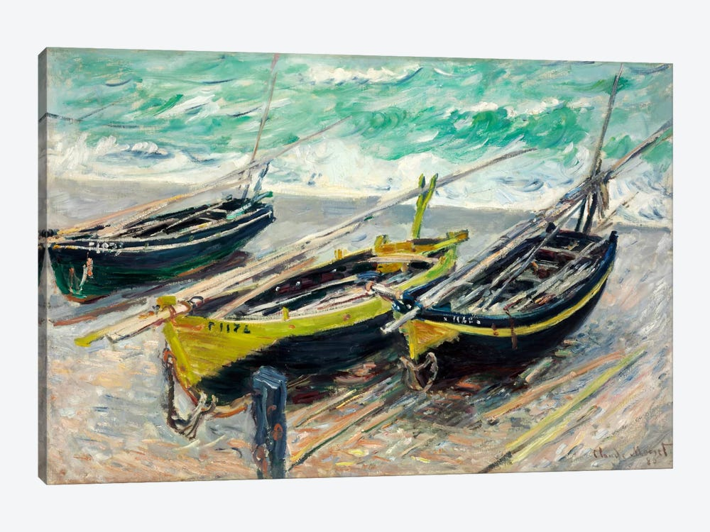Three Fishing Boats by Claude Monet 1-piece Art Print