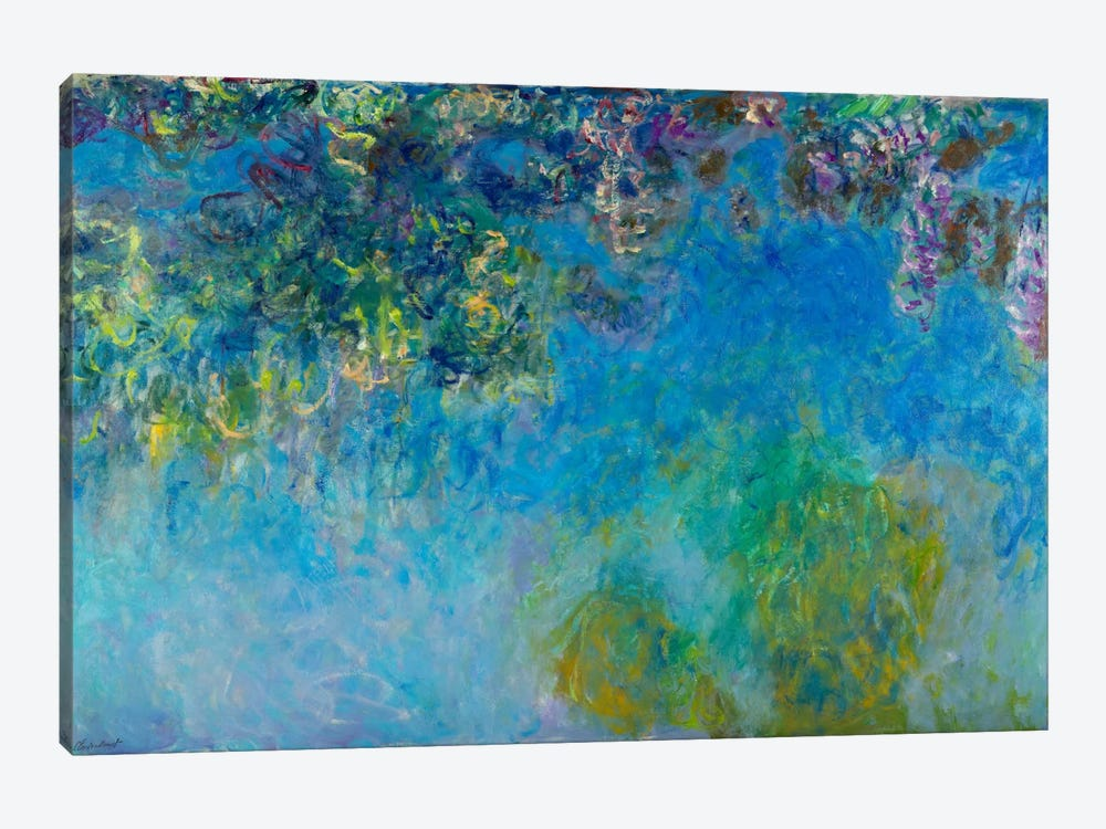 Wisteria by Claude Monet 1-piece Canvas Print