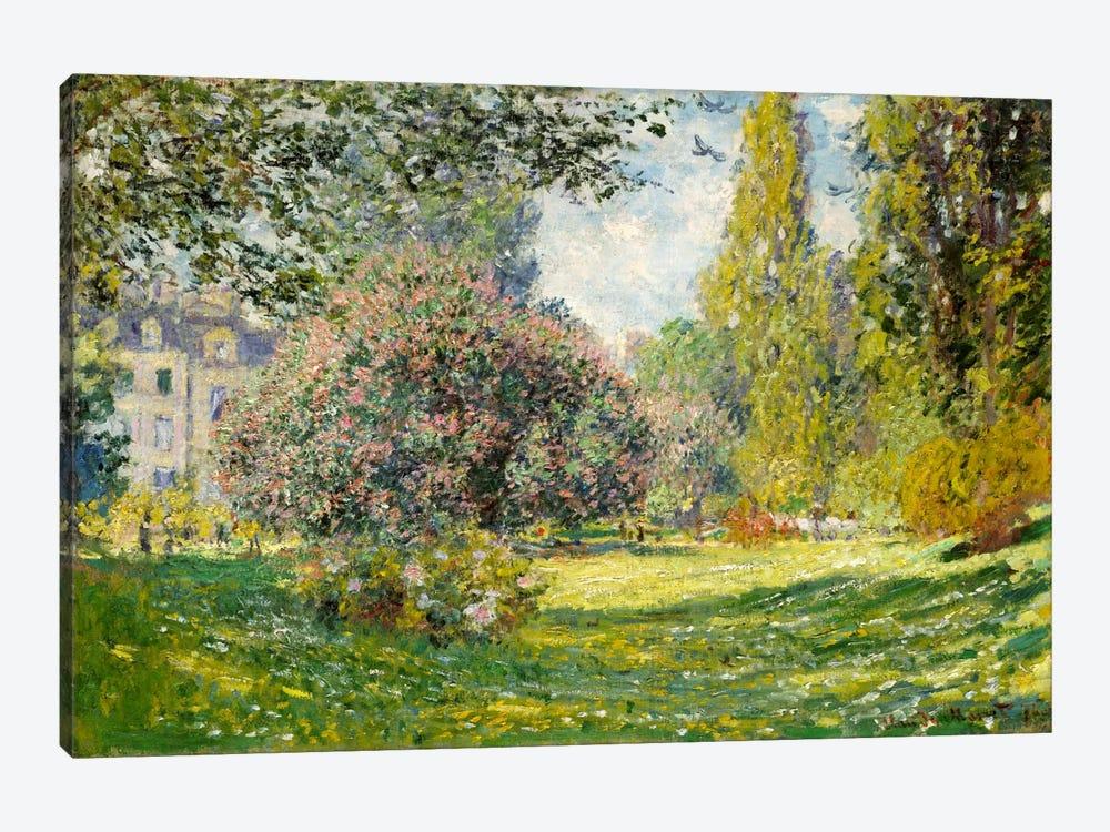 Landscape: The Parc Monceau by Claude Monet 1-piece Canvas Artwork