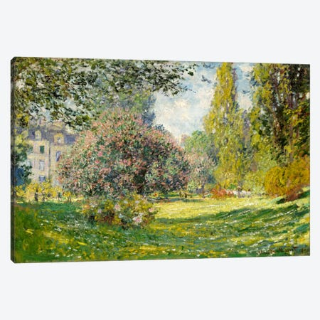 Landscape: The Parc Monceau Canvas Print #15150} by Claude Monet Canvas Art