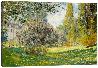 Landscape: The Parc Monceau Canvas Art Print