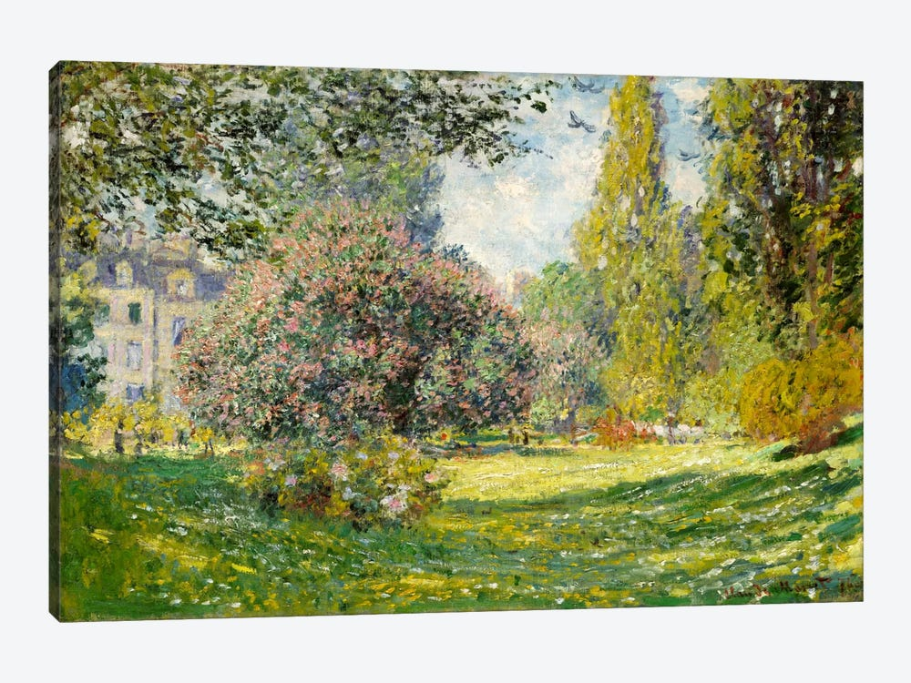 Landscape: The Parc Monceau by Claude Monet 1-piece Canvas Artwork