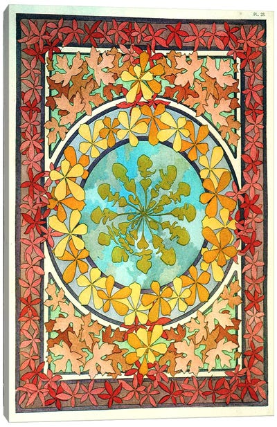 "Plate 28 from ""Documents Decoratifs""(1902) by Alphonse Mucha Canvas Art Print"