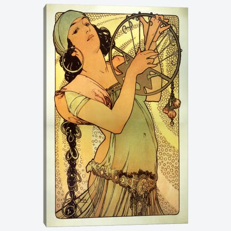 Salome Canvas Print #15155} by Alphonse Mucha Art Print