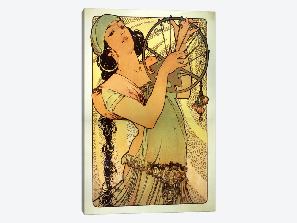 Salome by Alphonse Mucha 1-piece Canvas Print