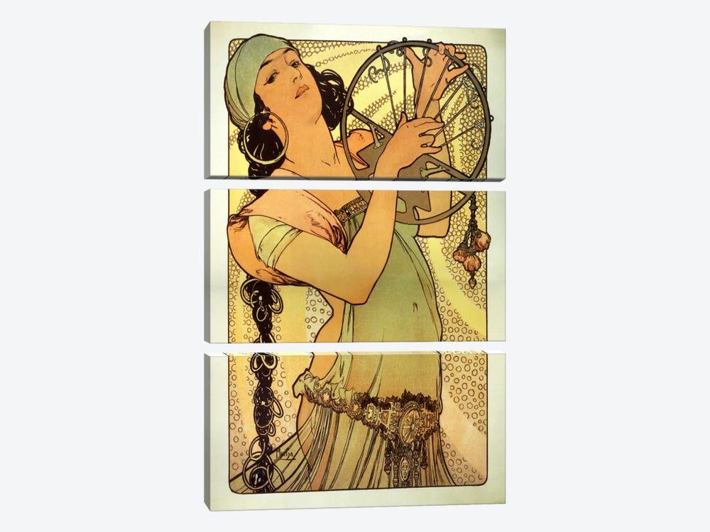 Salome by Alphonse Mucha 3-piece Canvas Art Print