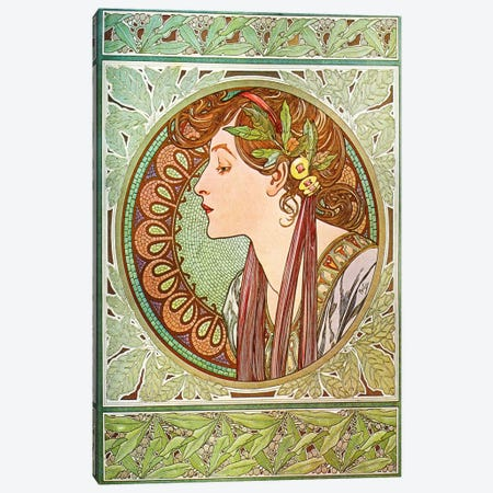 Laurel (1901) Canvas Print #15161} by Alphonse Mucha Art Print