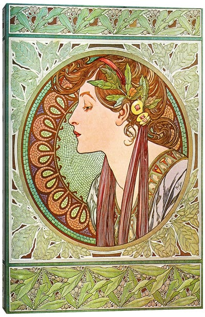 Laurel (1901) by Alphonse Mucha Art Print