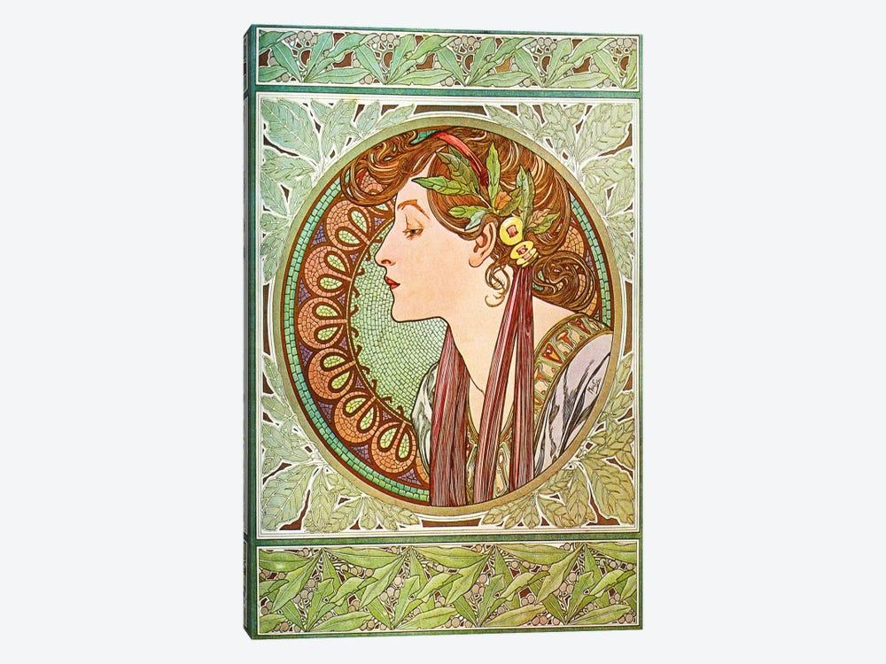 Laurel (1901) by Alphonse Mucha 1-piece Canvas Artwork