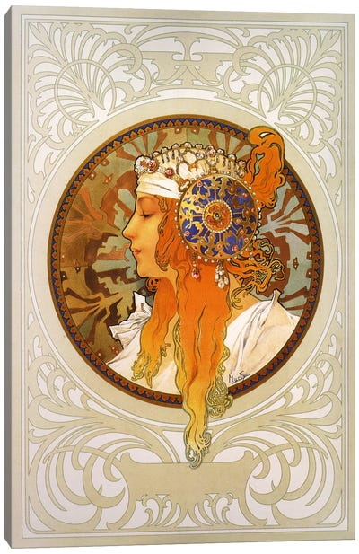 Tetes Byzantines: Blonde (1897) Canvas Art Print
