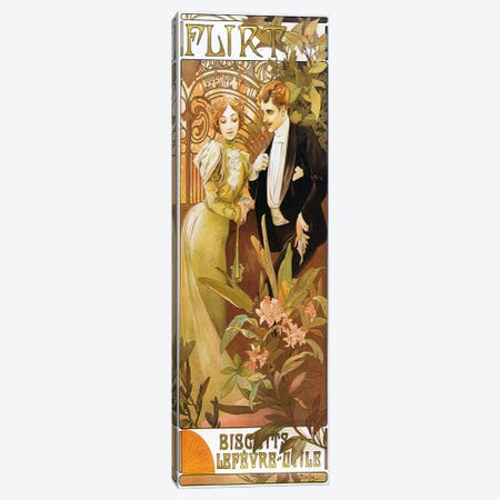 Flirt' Biscuits by 'Lefevre-Utile' 1899 Canvas Print #15163} by Alphonse Mucha Art Print