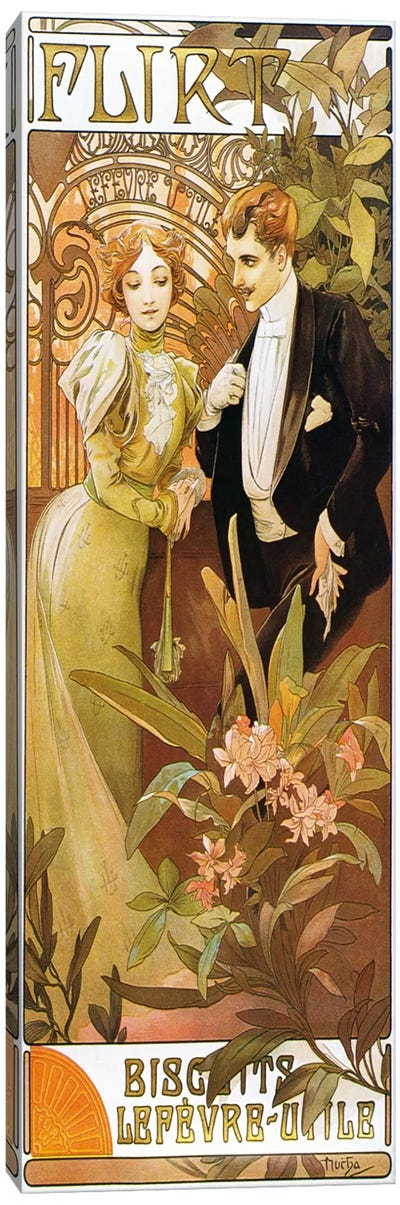 Flirt' Biscuits by 'Lefevre-Utile' 1899 by Alphonse Mucha Art Print