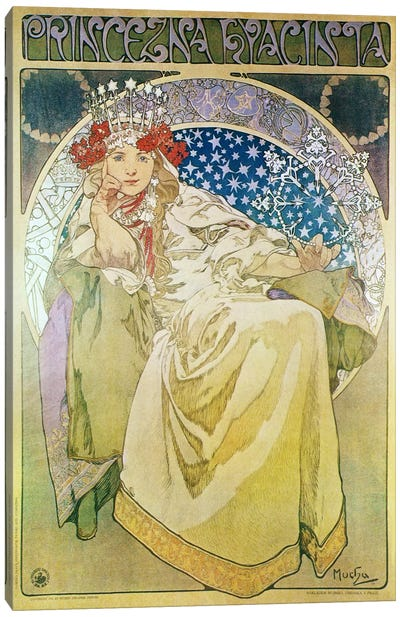 Princess Hyacinth (1911) by Alphonse Mucha Art Print